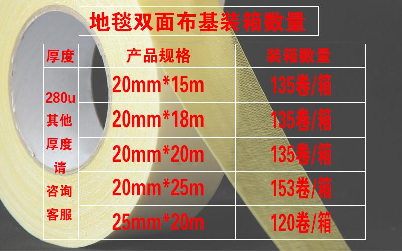 地毯双面胶装箱规格