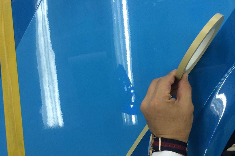 彩色美纹纸是汽车喷漆专用的必备用品